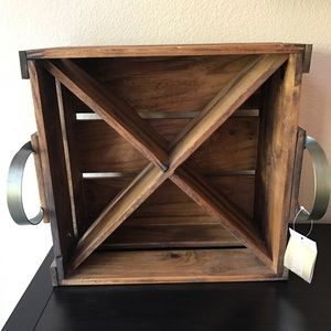 Pottery Barn Wine Holder Crate